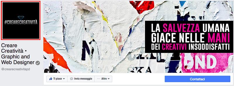 immagine profilo creare creativita dimensioni facebook