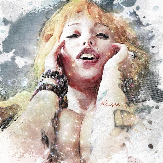 Alizee (SuicideGirls) Dipinto Digitale - Creare Creatività - Grafico Pubblicitario Padova