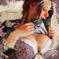 Blooma Bloosom (SuicideGirls) Dipinto Digitale - Creare Creatività - Grafico Pubblicitario Padova