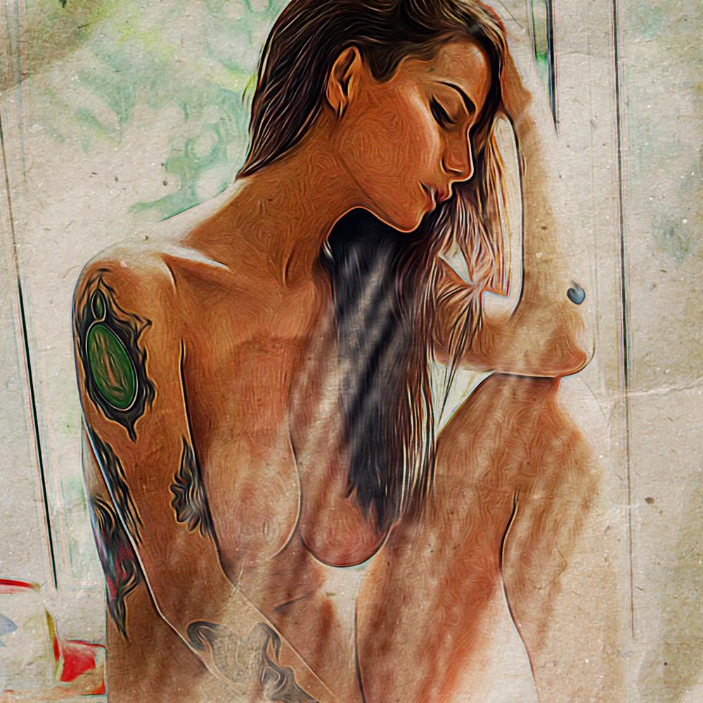Jackyesuicide (SuicideGirls) Dipinto Digitale - Creare Creatività - Grafico Pubblicitario Padova