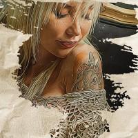 Kira Rebyt (SuicideGirls) Dipinto Digitale - Creare Creatività - Grafico Pubblicitario Padova