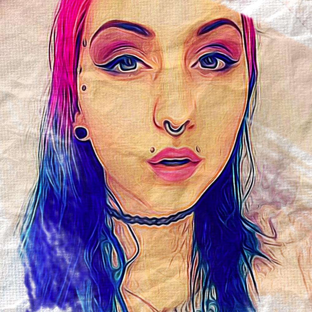 Princessina (SuicideGirls) Dipinto Digitale - Creare Creatività - Grafico Pubblicitario Padova