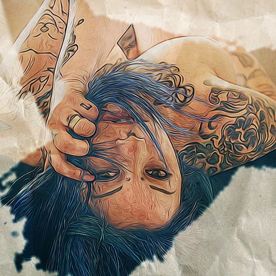 Tabata (SuicideGirls) Dipinto Digitale - Creare Creatività - Grafico Pubblicitario Padova